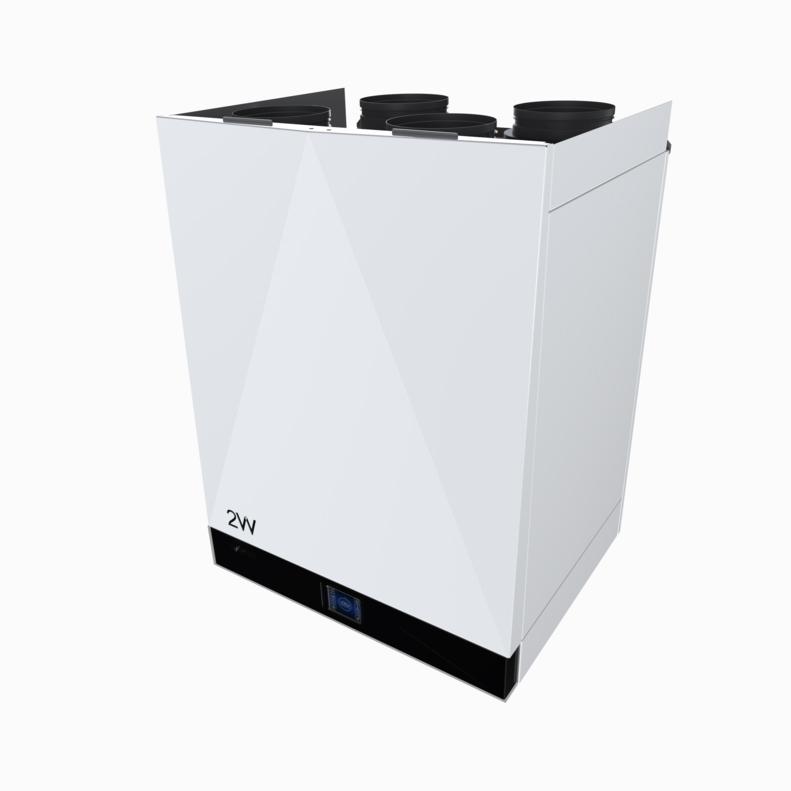2VV Rekuperační jednotka DAPHNE2 Comfort, elektrický předehřev, elektrický dohřev, 500m3/h