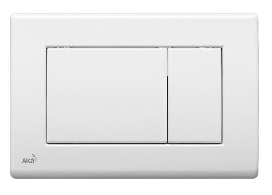 ALCAPLAST Ovládací tlačítko pro předstěnové instalační systémy (bílé) - M270
