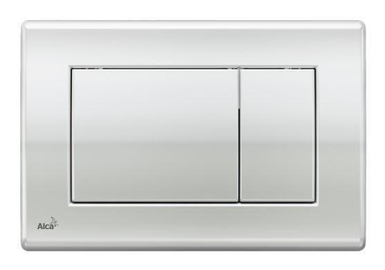 ALCAPLAST Ovládací tlačítko pro předstěnové instalační systémy (chrom - lesk) - M271