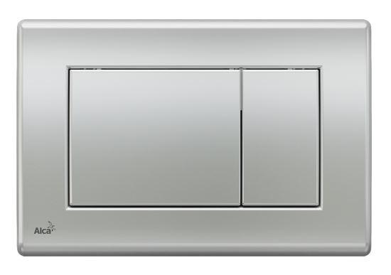 ALCAPLAST Ovládací tlačítko pro předstěnové instalační systémy (chrom - mat) - M272