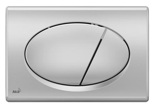 ALCAPLAST Ovládací tlačítko pro předstěnové instalační systémy (chrom - mat) - M72