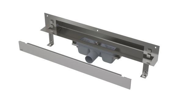 Alcaplast SPA-SHADE Odtokový systém pro zabudování do stěny APZ5-SHADE-850, nerez mat, délka 850 mm