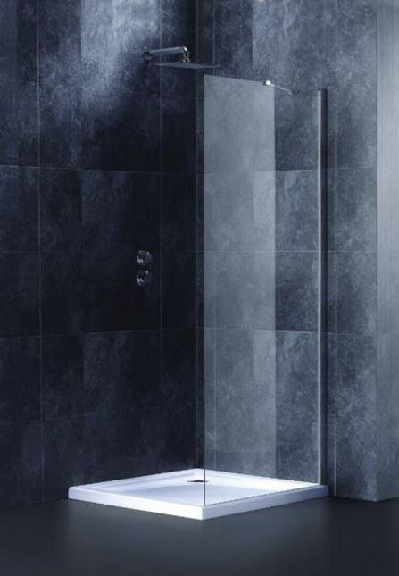 Boční stěna Siko SK pevná 80 cm, čiré sklo, chrom profil SIKOSTENASK80