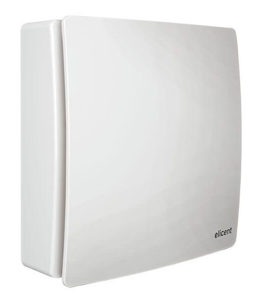 ELICENT Nástěnný i stropní semiradiální ventilátor ELIX, 100 mm, hladký přední štít