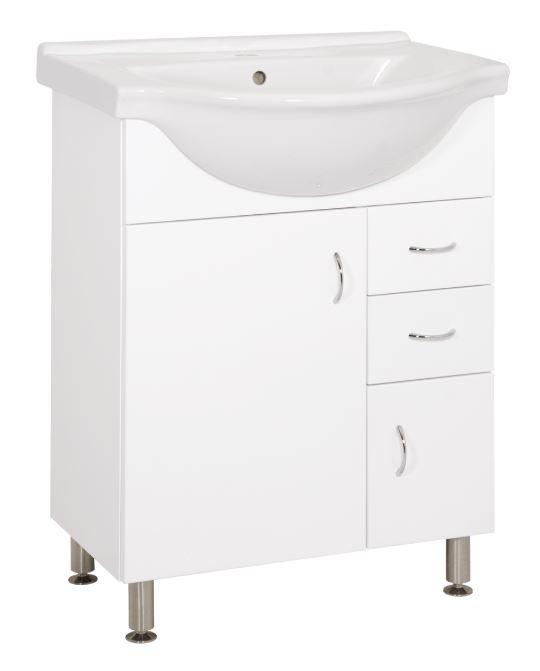Keramia Skříňka s umyvadlem Pro 60 cm, bílá PRO60DV