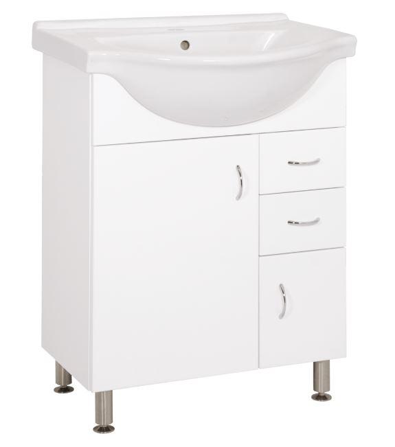 Keramia Skříňka s umyvadlem Pro 65 cm, bílá PRO65DV