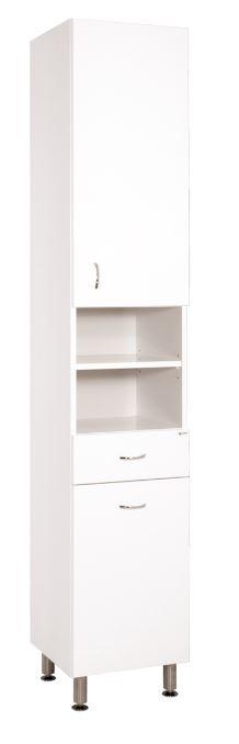 Keramia Vysoká skříňka s košem Pro 35 cm, bílá PROV35K