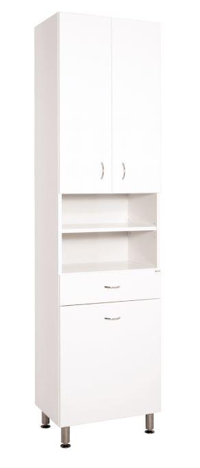 Keramia Vysoká skříňka s košem Pro 50 cm, bílá PROV50K