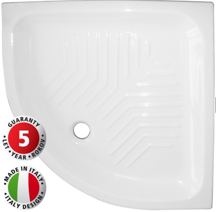 HOPA Keramická sprchová vanička ELARA, 80 x 80 x 10 cm, R55