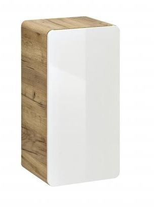 Comad Koupelnová skříňka nízká ARUBA WHITE 830, 75x35x22 cm, dub/bílá lesk