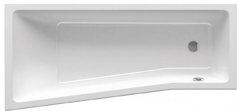 RAVAK akrylátová asymetrická vana Be Happy II 150 x 75 cm, bez podpory