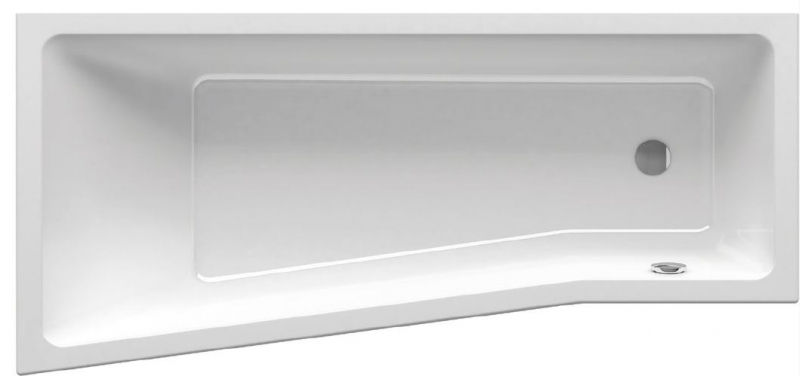 RAVAK akrylátová asymetrická vana Be Happy II 160 x 75 cm, bez podpory