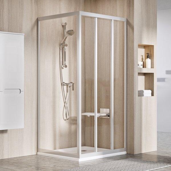 Sprchové dveře 80cm pro pevnou stěnu Ravak ASDP3-80 198 černá+transparent