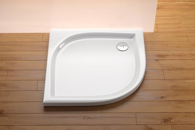 RAVAK ELIPSO Akrylátová sprchová vanička 90 x 90 cm, R500