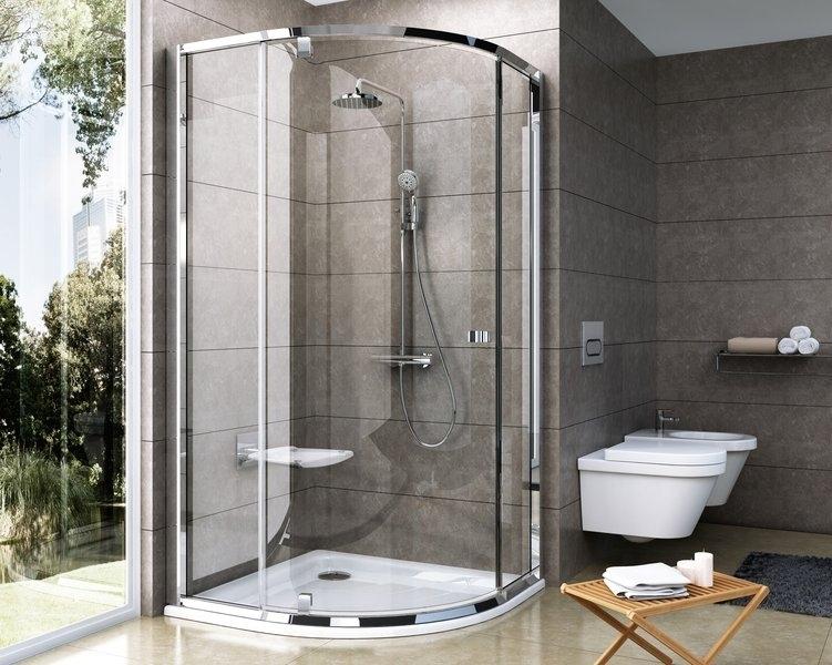 Ravak Pivot PSKK3-80 sprchový kout čtvrtkruhový pivotový třídílný, rám satin, sklo transparent