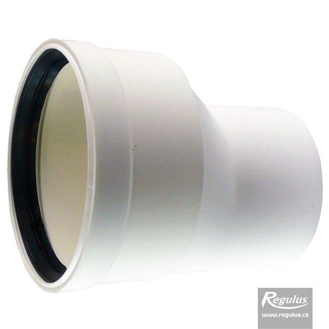 Regulus Redukce pr. 80/100 M/F, asymetrická, pro vodorovnou montáž