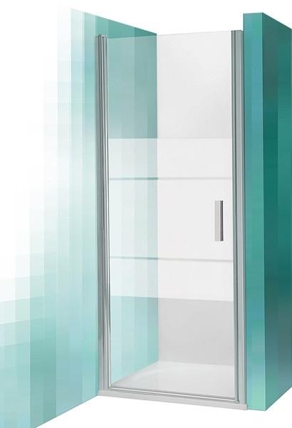 Roltechnik Sprchové dveře TCN1/1200, jednokřídlé, 117,5-121x200 cm, rám Stříbro, sklo Transparent