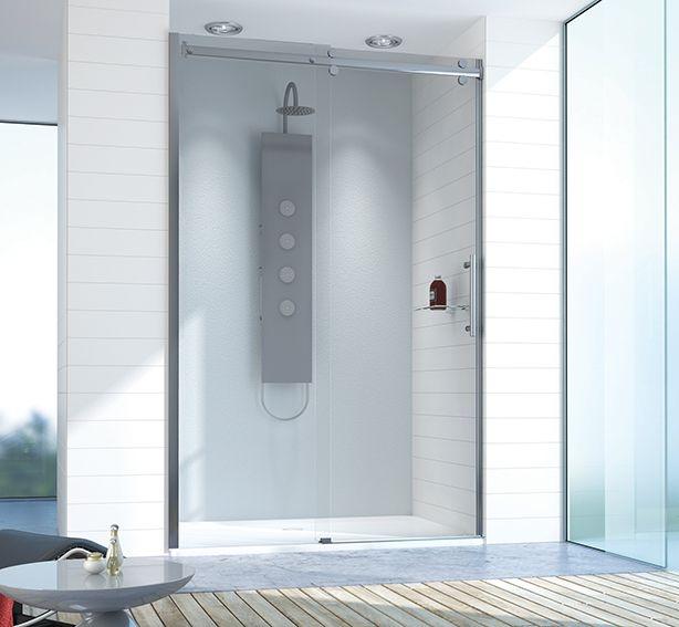 Sanplast Sprchové dveře do niky  posuvné D2/ALTIIa-160-170~chrom/sříbro bl~transparentní W0 + ochrana skla