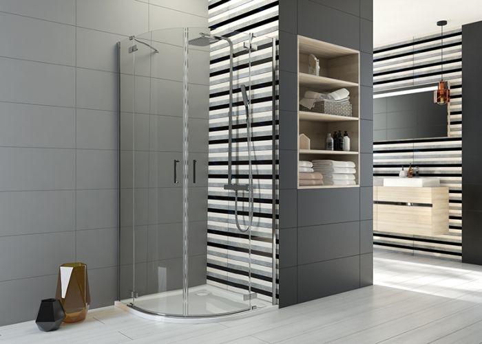 Sanplast Sprchový kout čtvrtkruh  R550 KP4/FREEII-90~chrom/sříbro bl~transparentní W0