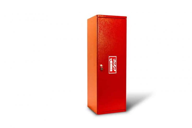 Kovo-Lemini Skříňka na hasicí přístroj CO2-5KG s plnou výplní zad, 850x280x270