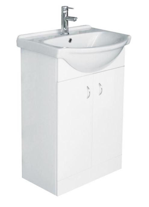 Skříňka s umyvadlem Multi Pro 52 cm, bílá PRO50SOKL