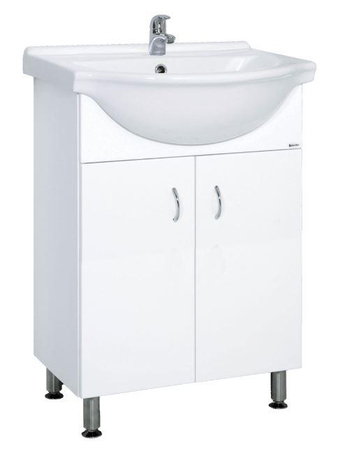 Skříňka s umyvadlem Multi Pro 55 cm, bílá PRO55NOVA