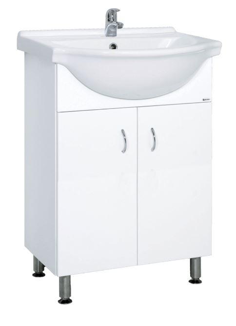 Skříňka s umyvadlem Multi Pro 61 cm, bílá PRO60NOVA