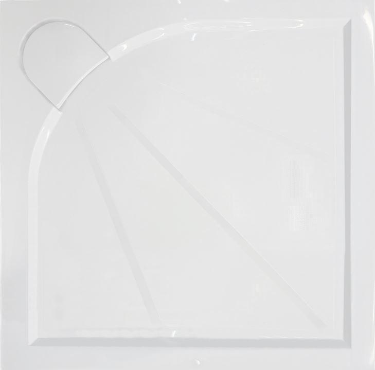 Sprchová vanička čtvercová Anima 90x90 cm, litý mramor