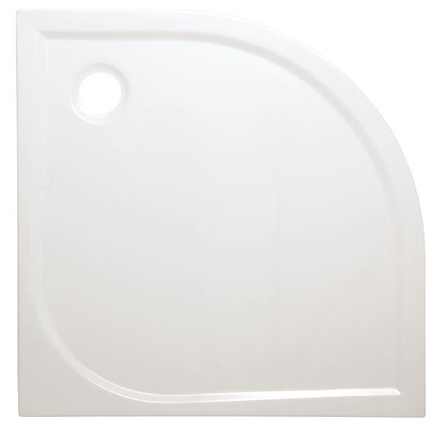 Sprchová vanička čtvrtkruh Anima Flat 90x90 cm, R550, akrylát