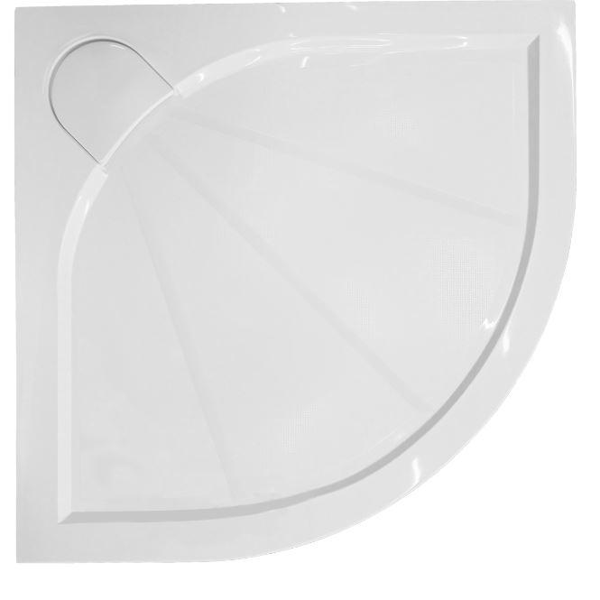 Sprchová vanička čtvrtkruhová Anima 80x80 cm, R550, litý mramor SIKOLIMCC80S