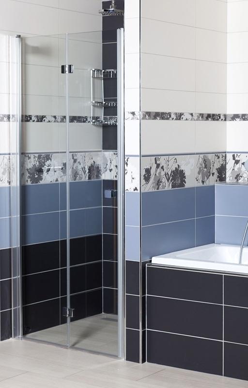 Sprchové dveře Siko SK skládací 80 cm, čiré sklo, chrom profil, univerzální SIKOSK80
