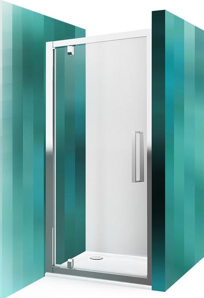 ROTH Sprchové dveře jednokřídlé ECDO1N/1100, 106-112x185 cm, sklo čiré, rám brillant