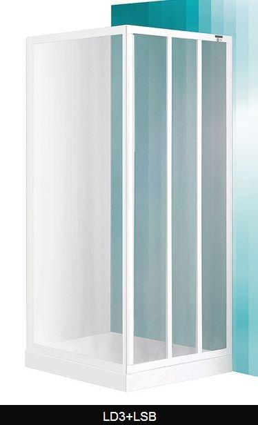 ROTH PROJECT Sprchové dveře LD3-950 zasouvací, 940-1000x1800mm, sklo Grape, rám bílý