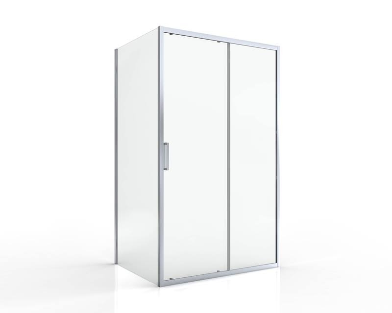 Sprchové dveře posuvné SIKO TEX 100 x 195cm, čiré sklo, chrom profil
