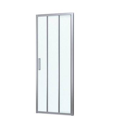 Sprchové dveře Siko TEX posuvné 100 cm, neprůhledné sklo, chrom profil, univerzální