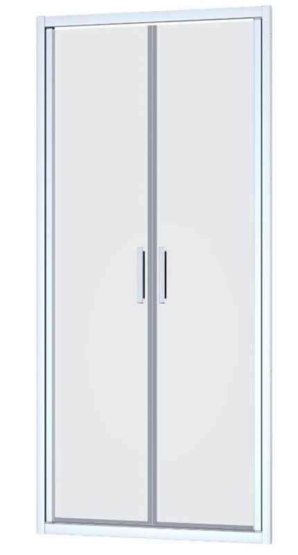 Sprchové dveře dvoukřídlé SIKO TEX 97 x 195cm, čiré sklo, chrom profil