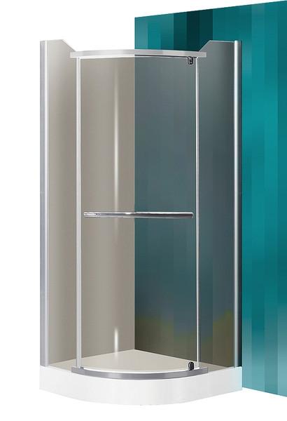 ROTH PROJECT Sprchový kout DENVER/900, sklo rauch, rám stříbro, 90x90x195 cm