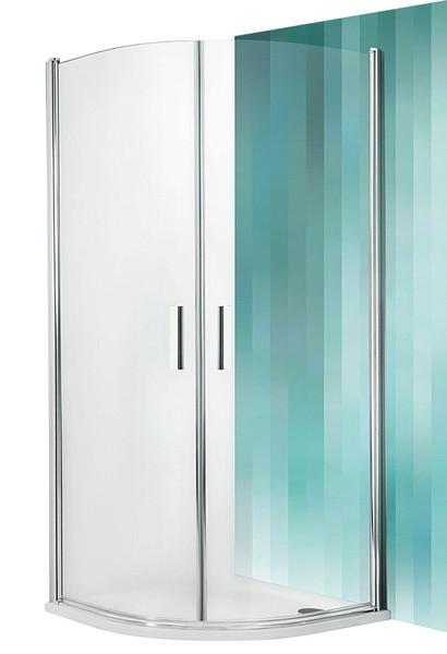 ROTH Sprchový kout čtvrtkruhový TR1/1000, 100x100x201 cm, rám brillant, sklo transparent