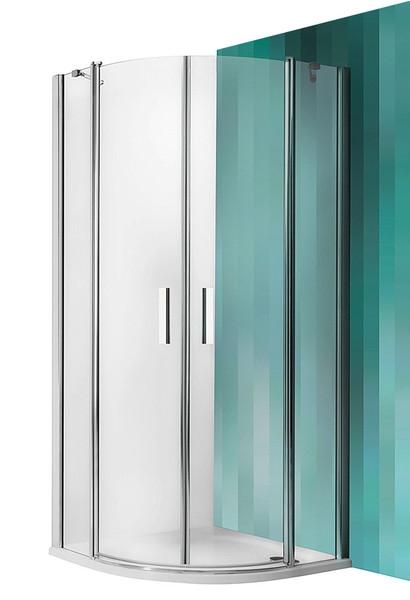 ROTH Sprchový kout čtvrtkruhový TR2/1000, 100x100x201 cm, rám brillant, sklo transparent