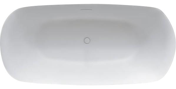 Volně stojící vana z litého mramoru 165x77 cm, bílá, Riho Bilo