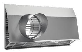 Zehnder Kombinovaná venkovní mřížka pro montáž na stěnu, DN 160 do 300 m³/h