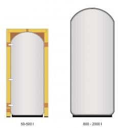 Akumulační nádoba s izolací pro uzavřené topné a chladicí systémy - IVAR.PUFFER PSS