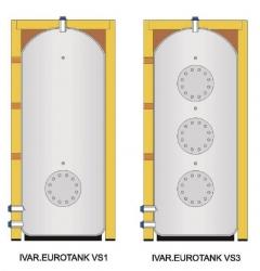 Akumulační nádoba s izolací, možnost osazení externími výměníky pro TV - IVAR.EUROTANK