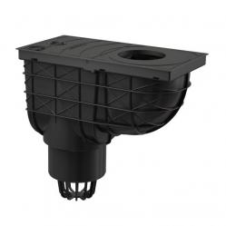 Alcaplast AGV1 Univerzální lapač střešních splavenin 300×155/110 mm přímý, černá