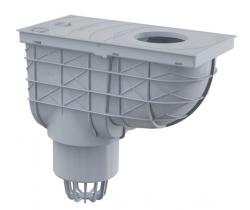 Alcaplast AGV1S Univerzální lapač střešních splavenin 300×155/110 mm přímý, šedá