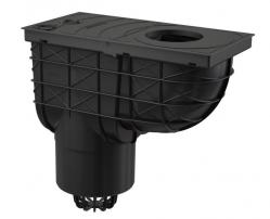 Alcaplast AGV2 Univerzální lapač střešních splavenin 300×155/125 mm přímý, černá