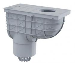 Alcaplast AGV2S Univerzální lapač střešních splavenin 300×155/125 mm přímý, šedá