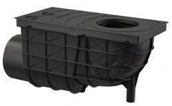 Alcaplast AGV3 Univerzální lapač střešních splavenin 300×155/110 mm boční, černá