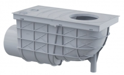 Alcaplast AGV3S Univerzální lapač střešních splavenin 300×155/110 mm boční, šedá