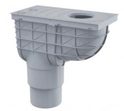 Alcaplast AGV4S Univerzální lapač střešních splavenin 300×155/125/110 mm přímý, šedá